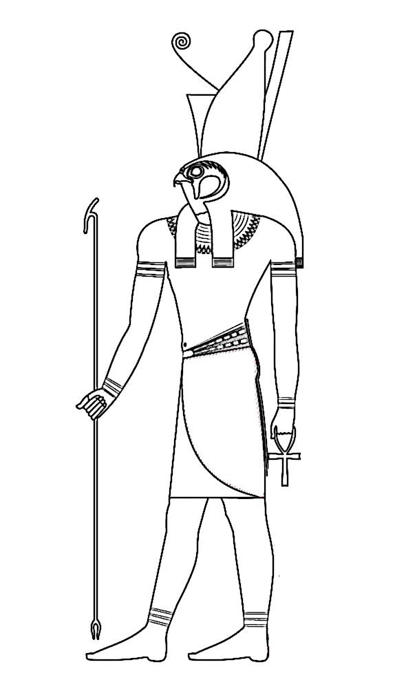 Cartina Dell Antico Egitto Da Colorare.Disegni Di Divinita Egizie Da Colorare